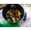 Making Stone Age berry stew