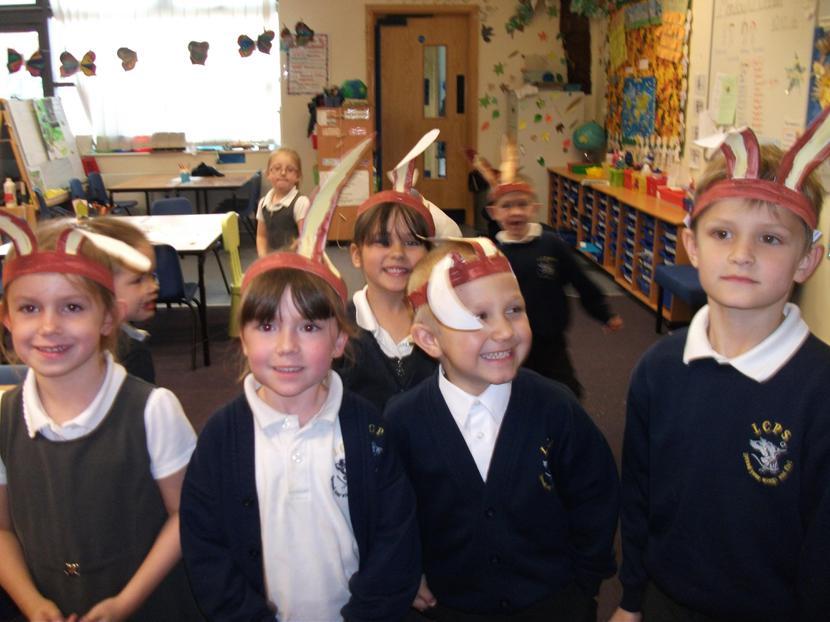 Y1's Midsummer Night's Dream donkey ears!