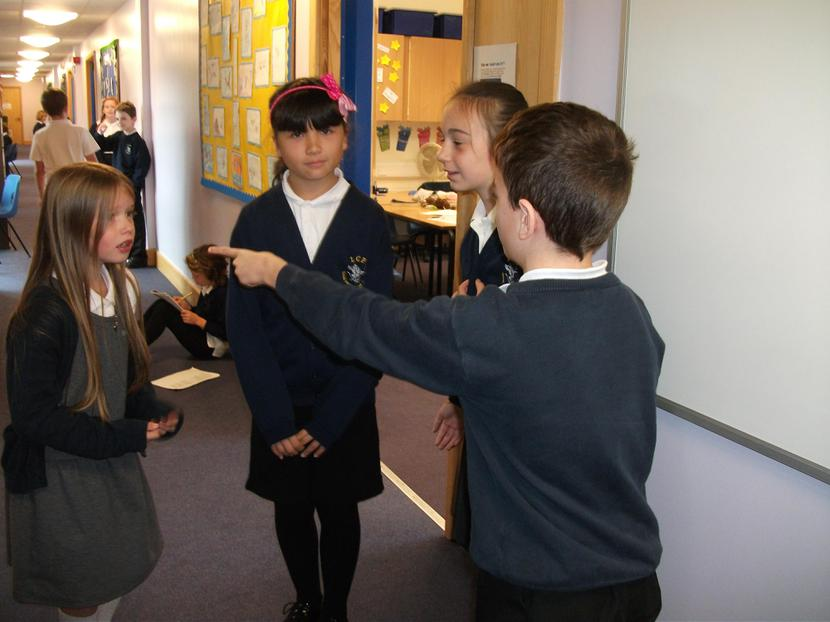 Year 5 created their own Romeo and Juliet scenes