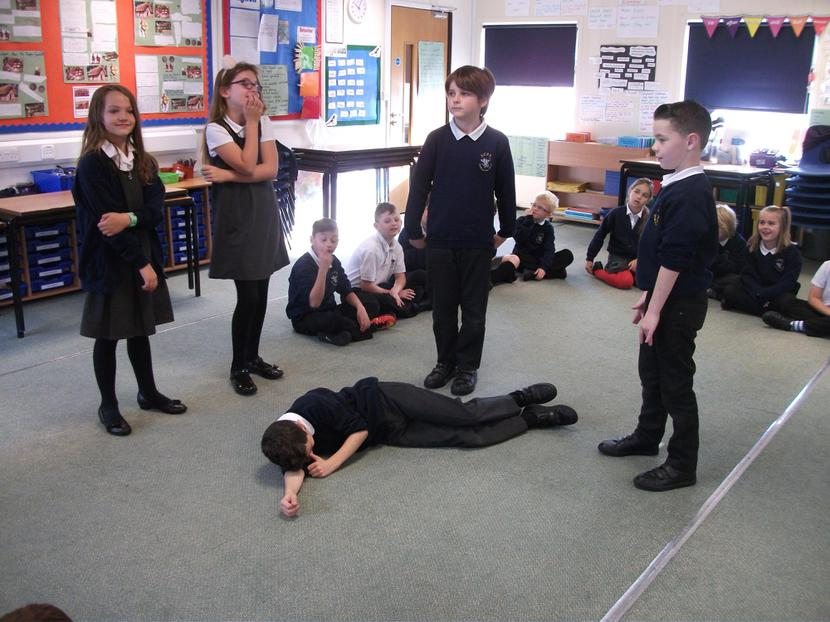 Year 4 used drama to discover The Tempest