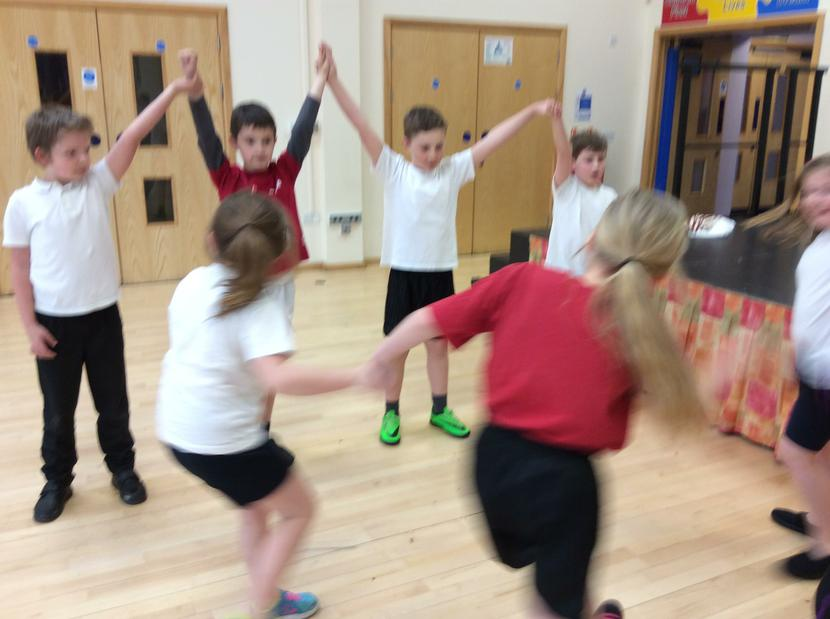 Learning how to Ceilidh dance