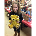 Alice won this lovely teddy bear!