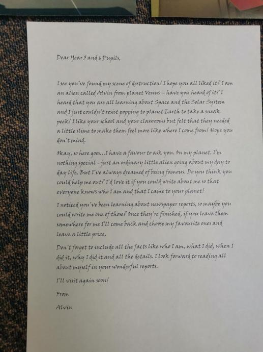 The letter he left for us!