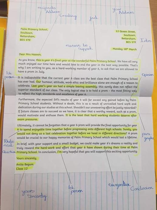 We annotated an example.