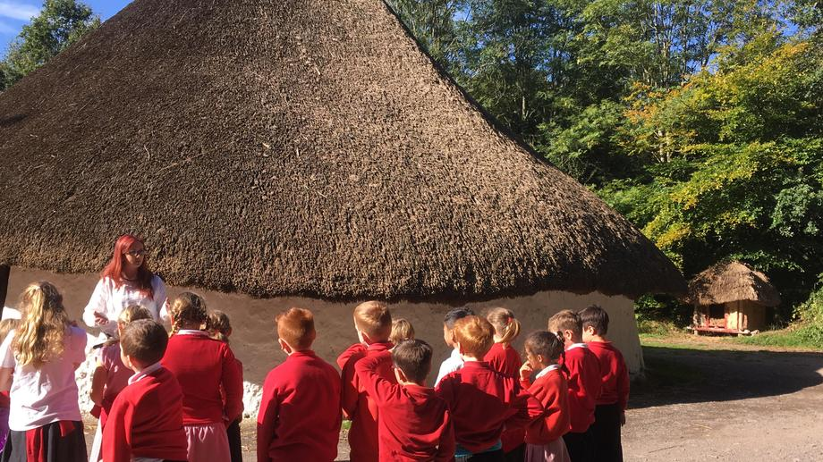 Visit to a reconstructed Celtic Roundhouse.