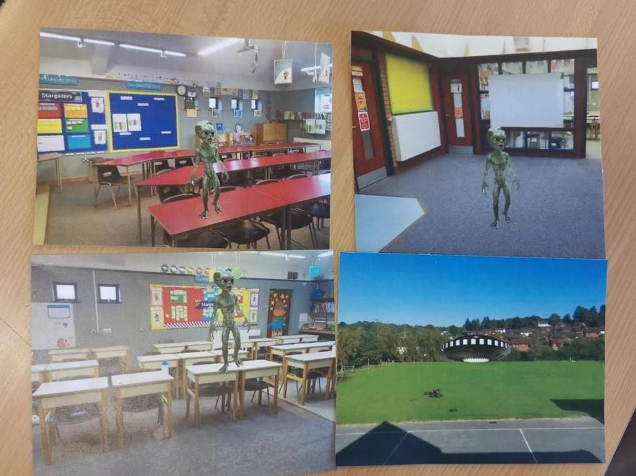 Photos of our guest in school!