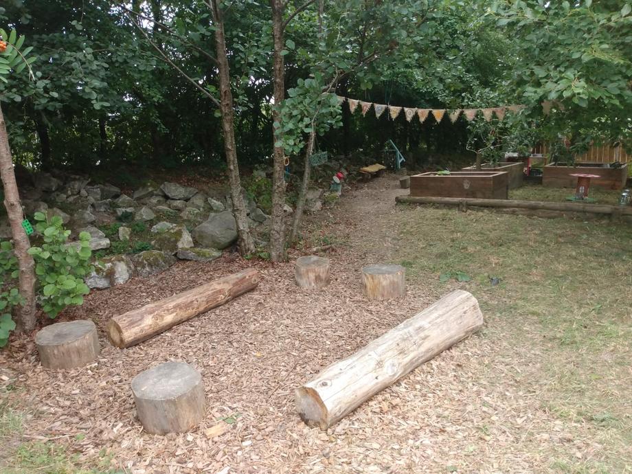We love a story at the log circle.