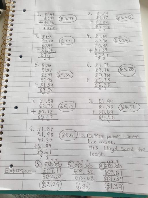 More maths!
