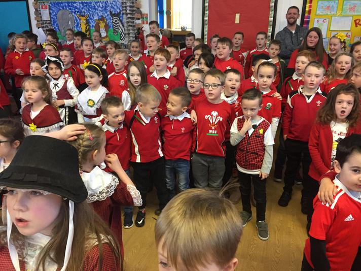 Pupils have learnt the Welsh National Anthem.
