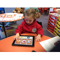 Sorting shapes on the I Pad