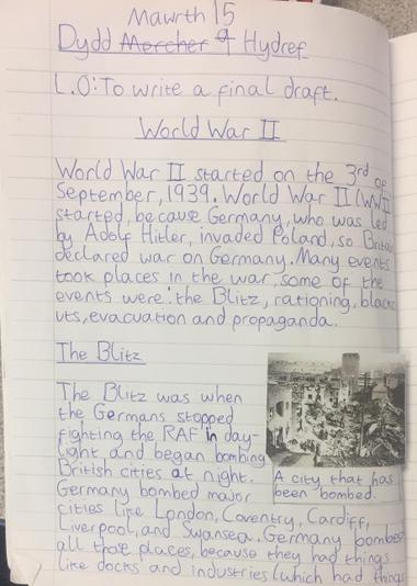 Information texts about WWII