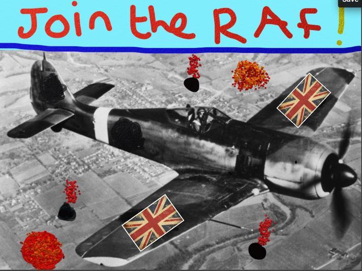 Propaganda posters created using Art Rage app
