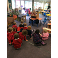 Puppet show of The Three Little Pigs!