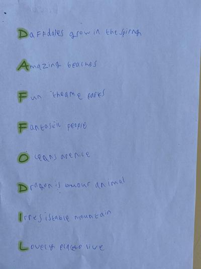 Fraser's acrostic poem