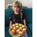 Nicholas from Reception and his yummy cakes