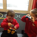 We will use our binoculars to find the animals