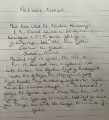 Mollie's Handwriting