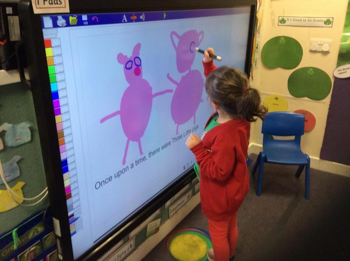 Creating a story of The Three Little Pigs