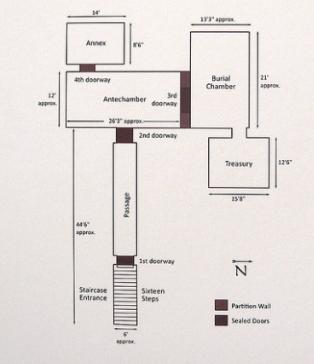 The original layout of King Tutankhamun's tomb