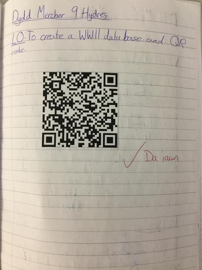 WWII database QR codes