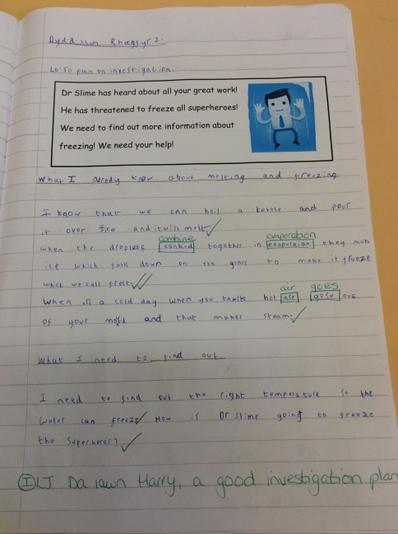 We shared our knowledge of freezing and melting.