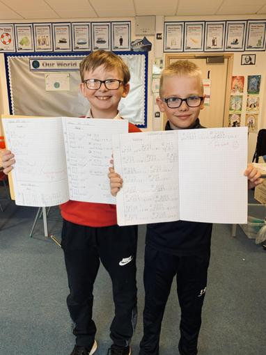 Josh and Cole worked really hard today to complete some fab doubling work, da iawn bechgyn