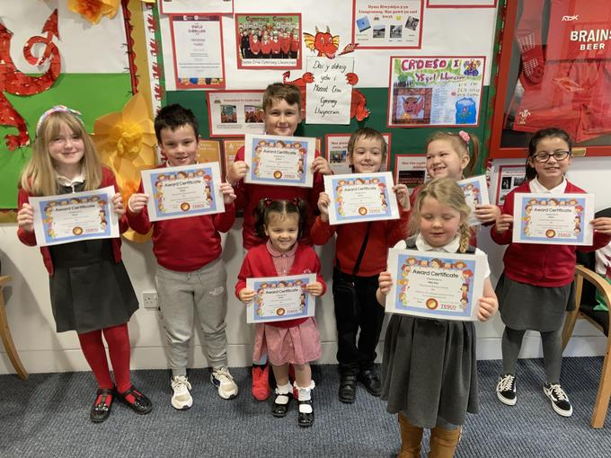 The children received certificates from Tesco to say thank you