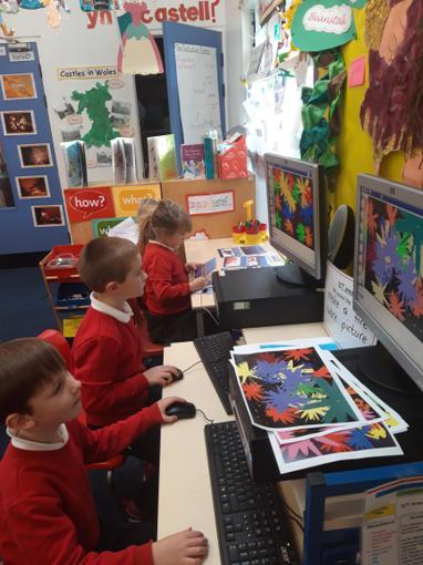 Using ICT to produce a firework picture