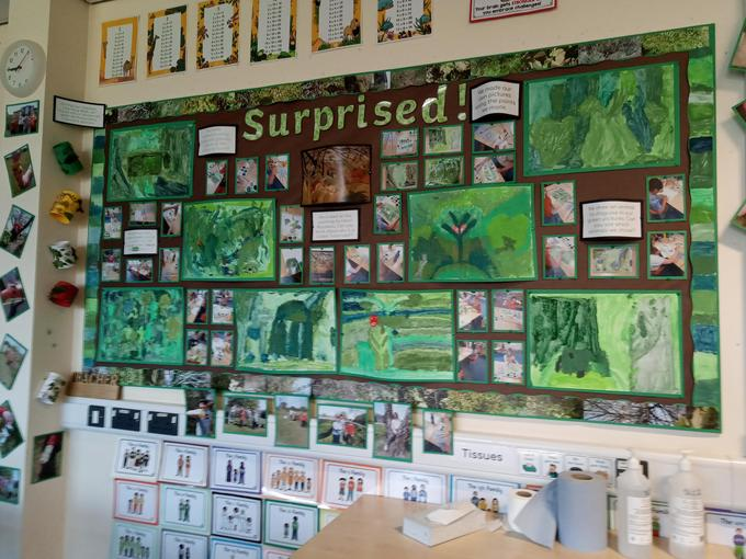 Look at the photos below to see what we did for our display.