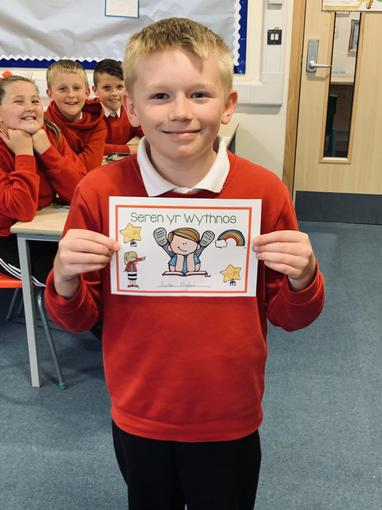 Great work and listening skills this week Finley. Da iawn 👍