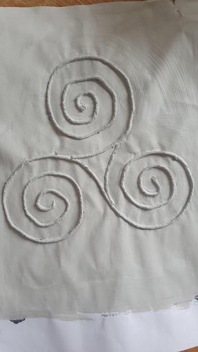 Oliver's Celtic stone art