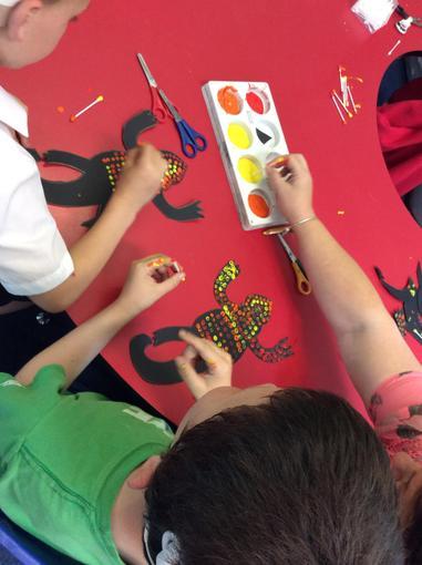 We made aboriginal art