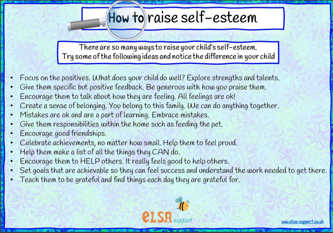 How to raise self-esteem