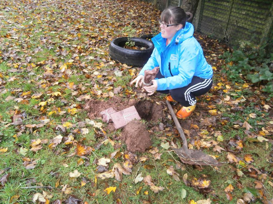 She found parcels in the soil