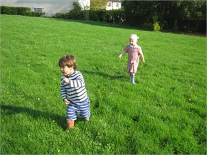 Running across our field