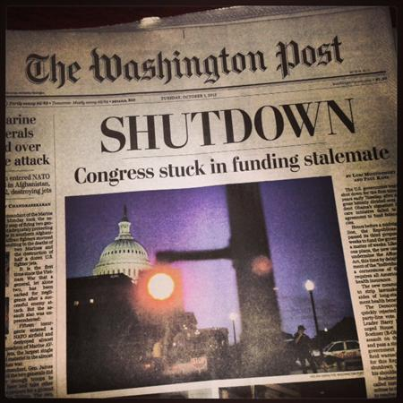 When we arrived the Government were on shutdown!