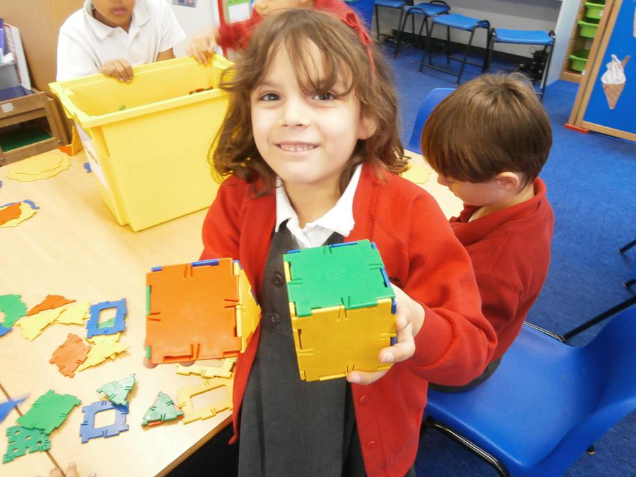 We were really pleased when we made 3D shapes