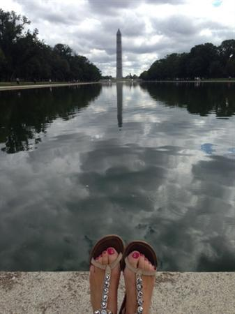 The reflection pool...and my feet!