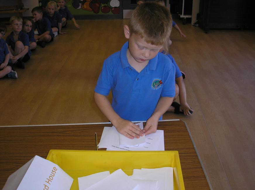 All children voted for their house captains