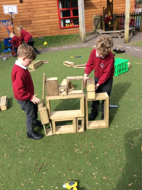 Working together to build a structure