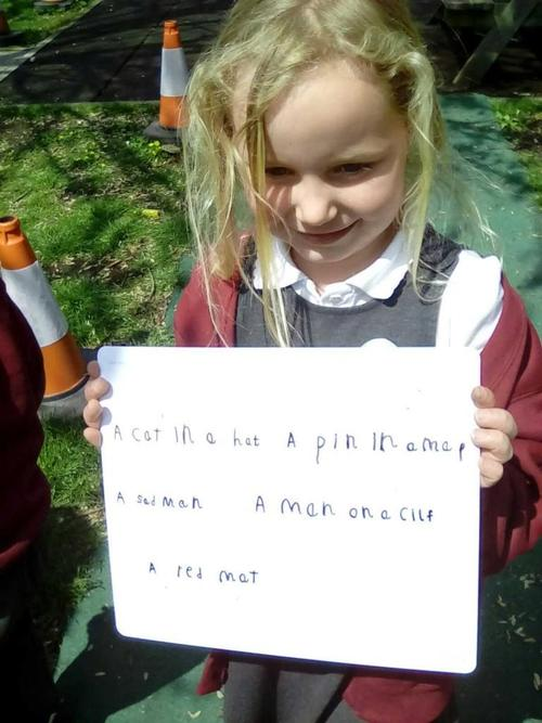 Learning how to write using our phonics