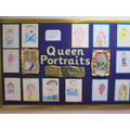 Year 1 enjoyed drawing Queen portraits