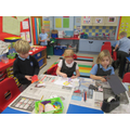 Y1 class busy with their work