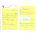 End of English unit 'Big Write' - peer feedback marking