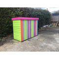 Our 'seaside' themed storage sheds.