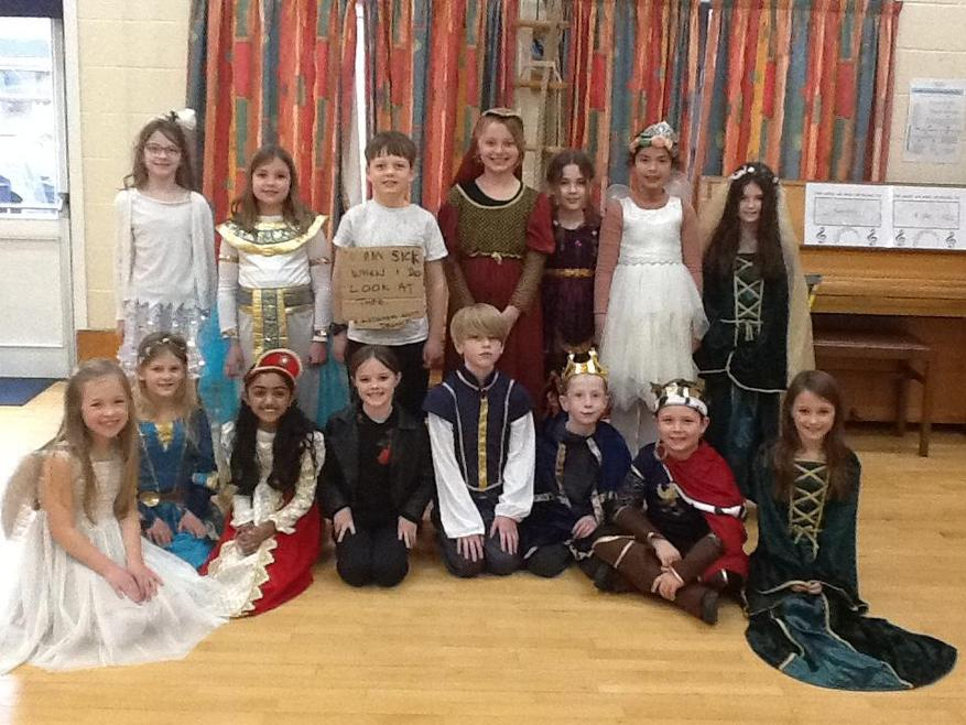 Some of us dressed up and we enjoyed watching Midsummer Night's Dream.