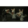 Grrrrr - Three wolves by class 2!....