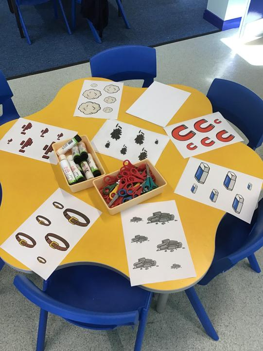 Our materials size ordering station.