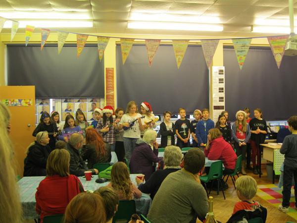 Christmas Fair- Ukulele playing
