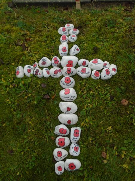 Our Remembrance Stone Cross